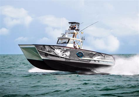 small boat fishing shark bay 2017 new metal shark 40 catamaran center console fishing