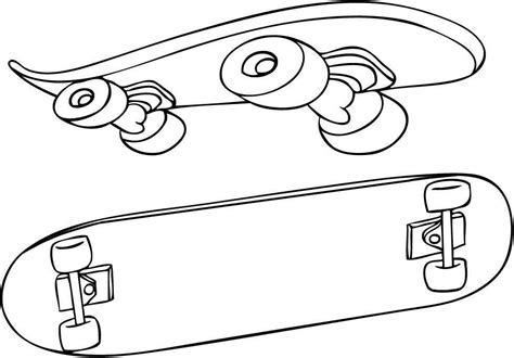 Skateboarding Coloring Pictures Coloring Home Skateboard Coloring Pages