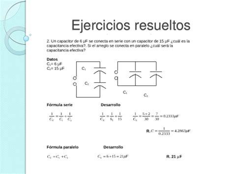 condensador esferico ejercicios resueltos capacitadores en serie y en paralelo
