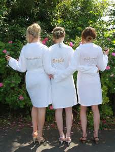 personalised bride white jersey dressing gown