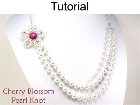 jewelry patterns to make jewelry beading tutorial pattern necklace pearl knot jewelry