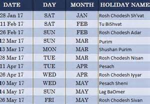 jewish holiday calendar my excel templates