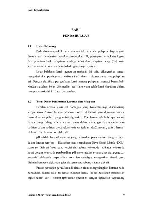 pembuatan laporan praktikum kimia laporan akhir praktikum kimia dasar unjani