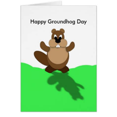 groundhog day greeting cards groundhog day gifts groundhog day gift ideas on zazzle