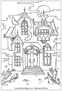 haunted house coloring pages teaching frenzy haunted houses