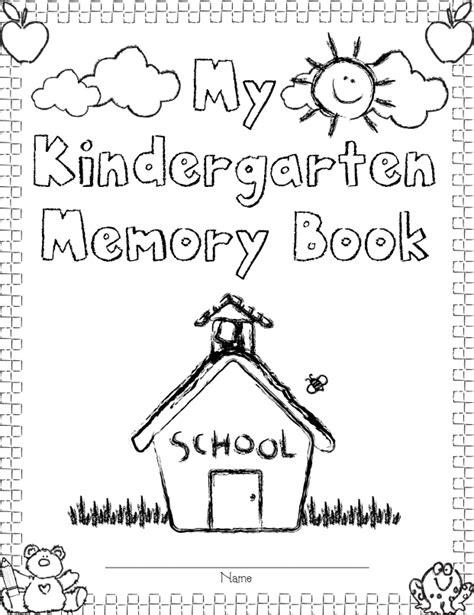 Mrs Solis S Teaching Treasures Our Kindergarten Memory Books And Freebie Preschool Memory Book Template