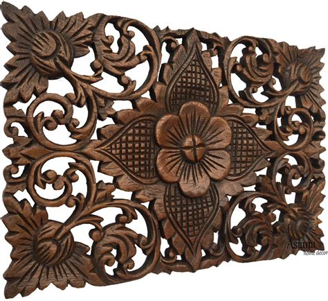 asian home decor wood carved wall plaques asiana home decor