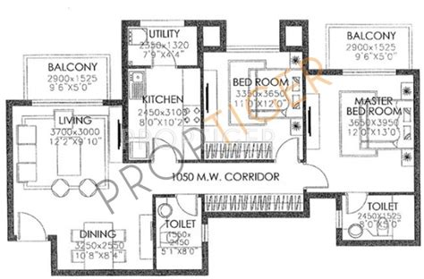1300 sq ft apartment floor plan 1300 sq ft 2 bhk 2t apartment for sale in dlf westend