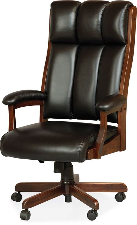 Wood And Leather Desk Chair by Amish Desk Arm Chair Computer Solid Wood Leather