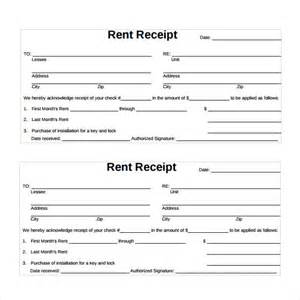 rental receipt template sle rent receipt template 12 free documents
