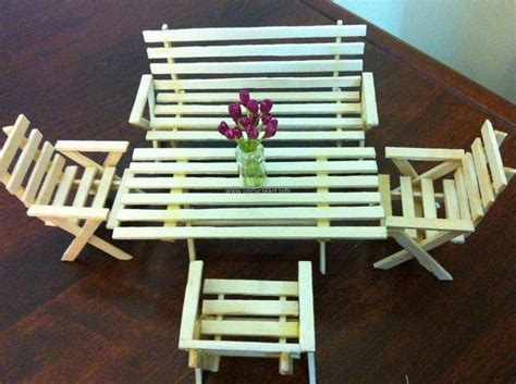 Popsicle Stick Chair by Crafts Made With Popsicle Sticks Upcycle