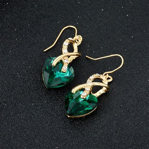 Kalung Set Anting Kc005 set kalung dan anting austrian pendants green jakartanotebook