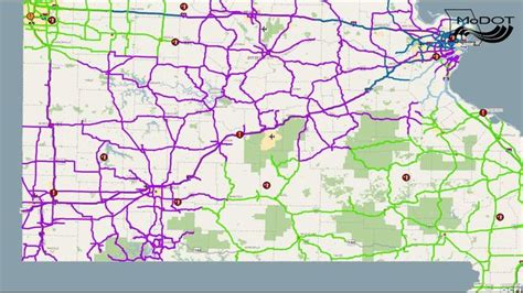 modot road closure map modot road conditions map my