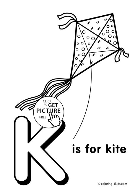 Name Letter K word free colouring pages
