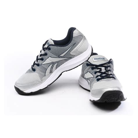 reebok mens sports shoes reebok silver and black sports shoes m44496 ezzybazaar