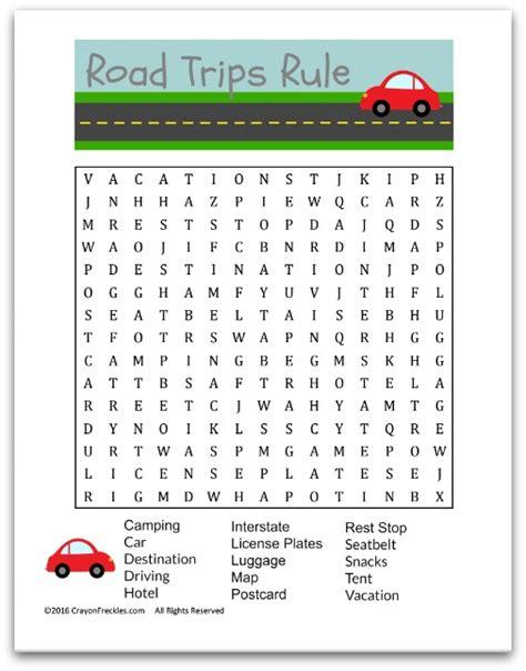 printable road trip word search crayon freckles road trip word search for kids free