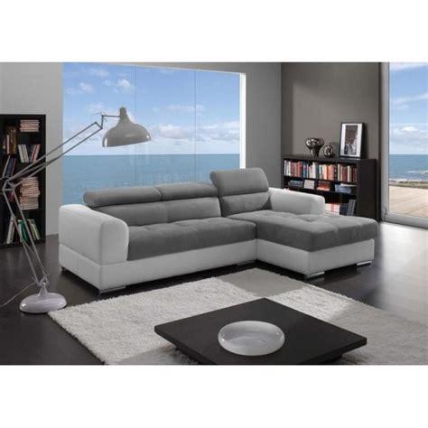 canape cuir blanc et gris photos canap 233 blanc et gris cuir