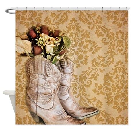 vintage cowboy curtains damask vintage cowboy boots floral shower curtain by admin