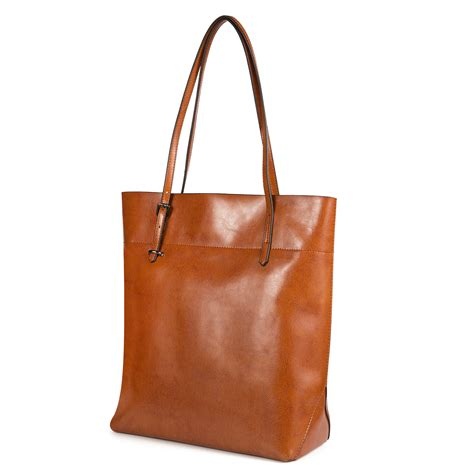 Cowhide Leather Handbags - kattee vintage waxed cowhide leather tote vintage shoulder