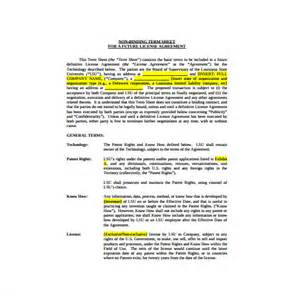 non binding term sheet template 13 term sheet template free word pdf documents