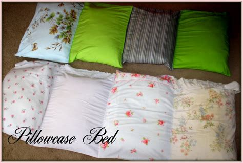 pillowcase bed diy pillow mats inspired by family