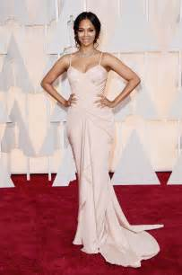 Oscars Carpet Zoe Saldana 2015 Oscars Carpet In