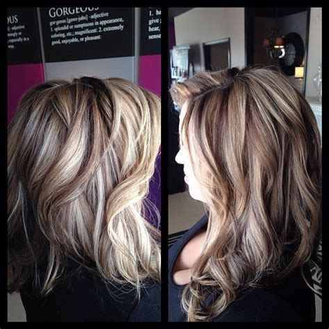 multicolour highlights blonde hair picmia