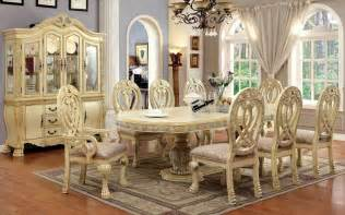 home mackenzie piece country white wash dining table groups formal wood dining room set in antique