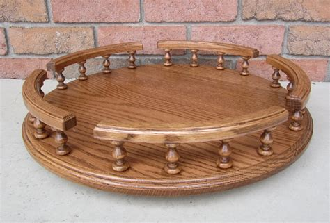 Amish Handcrafted - amish handcrafted oak lazy susan available in 3 sizes