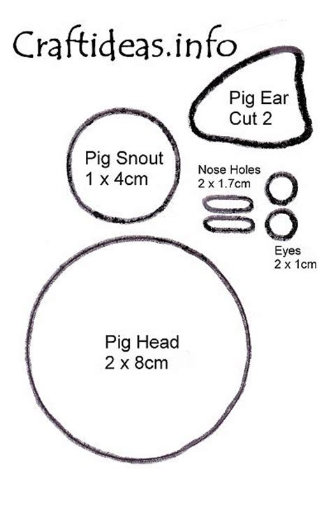 the pig ears template best photos of pig ear cut outs pig ear headbands