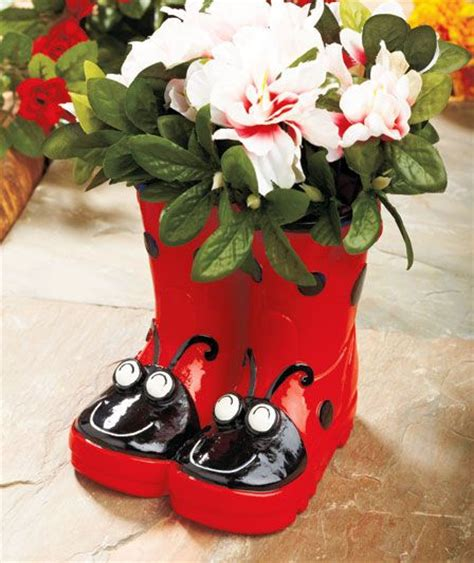 Ladybug Planter by Whimsical Boot Planters Ladybugs Ideal To Make With