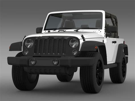 jeep willys 2014 jeep wrangler willys 2014 3d model cgtrader