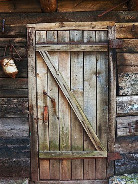 cabin door printed photography backdrop 1012 on the