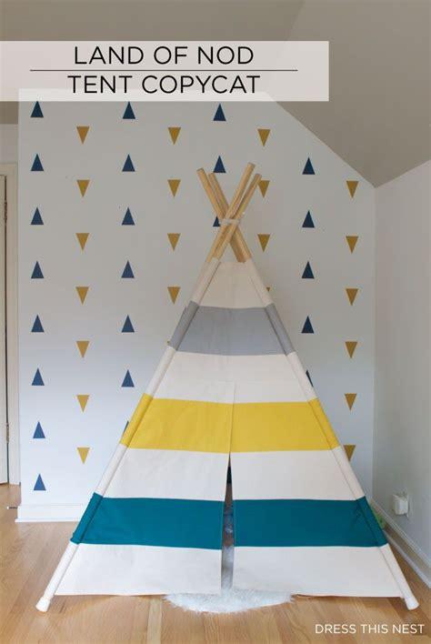pinterest teepee pattern land of nod copycat striped tent teepee diy sewing pattern