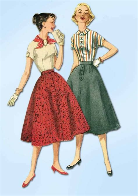 simple vintage pattern 1950s vintage simplicity sewing pattern 1736 simple skirt