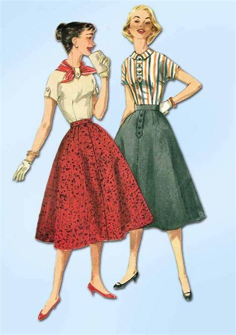 vintage pattern simplicity 1950s vintage simplicity sewing pattern 1736 simple skirt