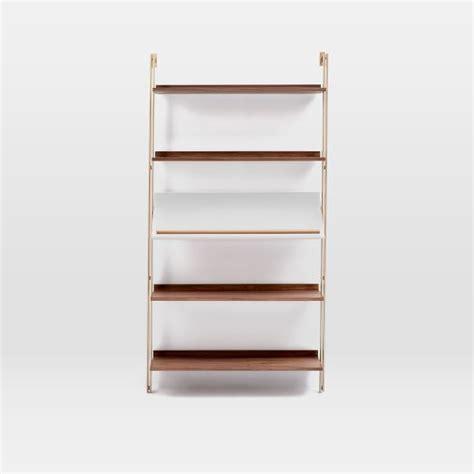 Angled Shelf by Linden Mid Century Wide Angled Shelf Unit West Elm