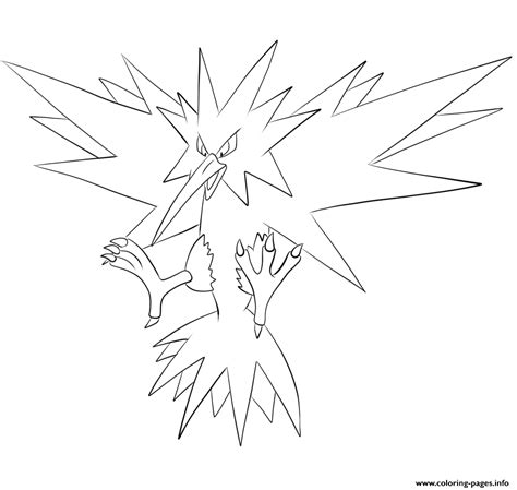 pokemon zapdos coloring pages 145 zapdos pokemon coloring pages printable