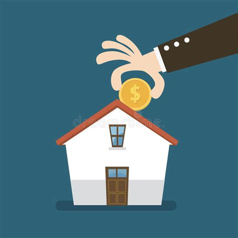 buying a house as an investment saving money to buy a house investing money house stock vector illustration of