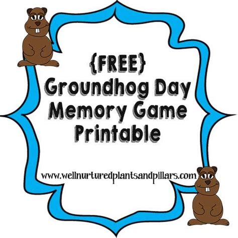 groundhog day free free groundhog day memory printable groundhog day