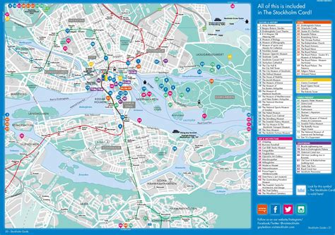 map of tourist attractions stockholm tourist attractions map
