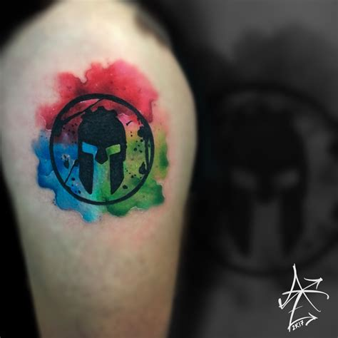 spartan race tattoo spartan race watercolor logo by adam zimmer