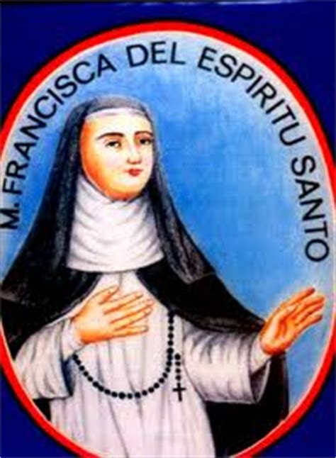 Biography Of Mother Francisca Del Espiritu Santo | institutional tableaus on the life virtues of st
