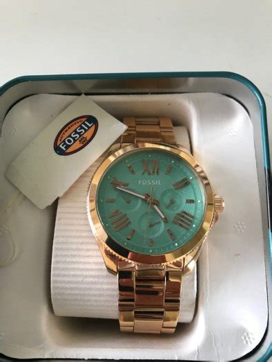 Fossil Fs083 Green Rosegold fossil cecile chronograph green gold tone for sale in leopardstown
