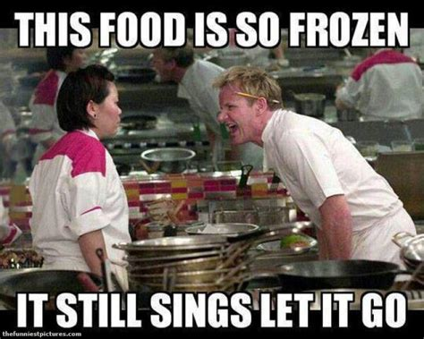 Funny Cooking Memes - this food is so frozen ramsay meme funniest pictures