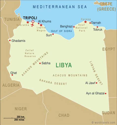 map of libya libya map libya travel maps from word travels