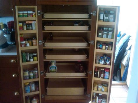 Kitchen Pantry Cabinet With Pull Out Shelves Cabinet Pantry Pull Out Shelves Pantry Cabinets Boston By Shelfgenie Of Massachusetts