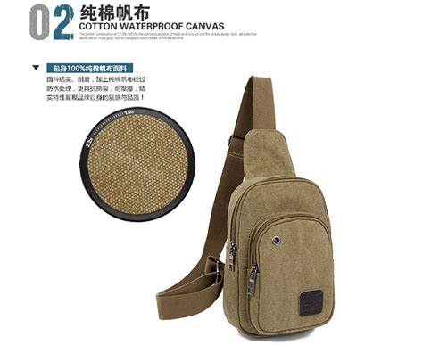 Tas Fashion Selempang Trendy High Quality C372 Khaki tas selempang canvas khaki jakartanotebook