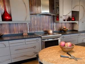 metal backsplash for kitchen metal backsplash ideas hgtv decorative kitchen backsplash