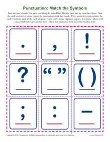 punctuation match the symbols punctuation worksheets